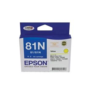 81N Yellow Ink Cartridge For Stylus Photo 1410, R290, R390, T50, RX590, RX610, RX690, TX650, TX700W, TX710W, TX800FW, TX810FW, ARTISAN 725, 835