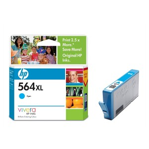 HP 564XL HIGH YIELD CYAN INK CB323WA