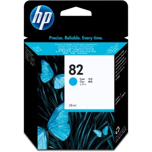 HP 82 28ml Cyan Ink Cartridge