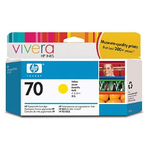 HP 70 130ml Yellow Ink Cartridge