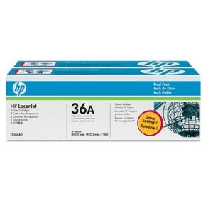 36A BLACK TWIN-PACK LASERJET TONER CARTRIDGE CB436AD