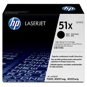51X BLACK HIGH YIELD LASERJET TONER CARTRIDGE Q7551X