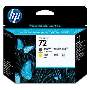 HP 72 Matte Black / Yellow Printhead