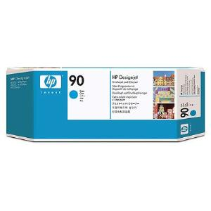 HP 90 Cyan Printhead and Cleaner