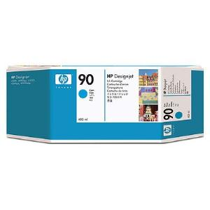 HP 90 400ml Cyan Ink Cartridge