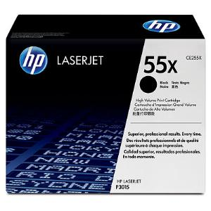 55X BLACK HIGH YIELD LASERJET TONER CARTRIDGE CE255X