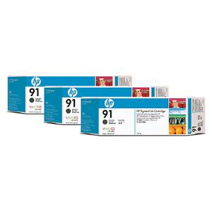 HP 91 775ml x 3 pack Matte Black Ink Cartridge