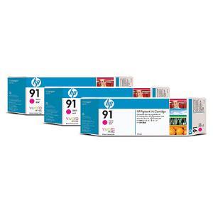 HP 91 775ml x 3 pack Magenta Ink Cartridge