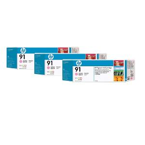 HP 91 775ml x 3 pack Light Magenta Ink Cartridge