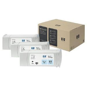 HP 81 680ml x 3-pack Lt Cyan Dye Ink Cartridge
