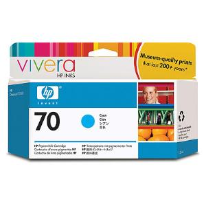 HP 70 130ml Cyan Ink Cartridge