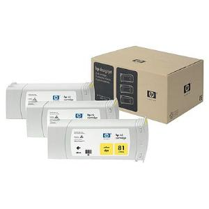 HP 81 680ml x 3-pack Yellow Dye Ink Cartridge