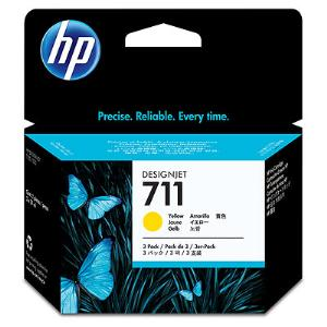 HP 711 29ml x 3Pack Yellow Ink Cartridge
