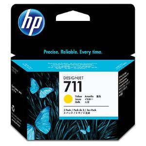 HP 711 29ml x 3Pack Yellow Ink Cartridge