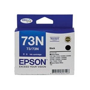 73/73N Black Ink Cartridge For Stylus C79, C90, C110, T20, T21, CX3900, CX4900, CX5500, CX5900, CX6900F, CX7300, CX8300, CX9300F, TX100, TX110, TX200, TX210, NX220, TX400, TX410, TX550W, T30