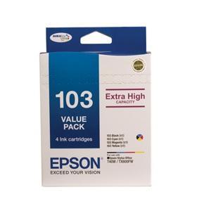 103 Value Pack Inc Black Magenta Cyan Yellow 103 Cartridges For Stylus TX550W, Stylus Office T40W, TX600FW, TX610FW