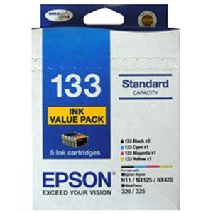 5 Standard Capacity ink cartridge Value Pack, 2 x Black, 3 x Colours