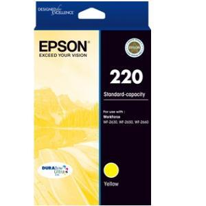 220 (C13T293492) Std capacity Yellow ink cartridge