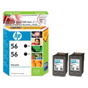 56 BLACK TWIN PACK INK CARTRIDGE CC620AA